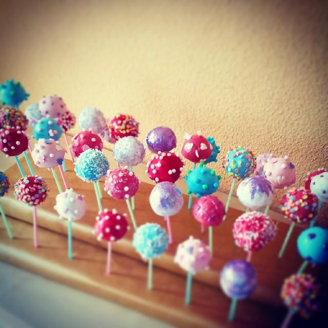 #cakepops, die Zweite: nach der Generalprobe die fertigen