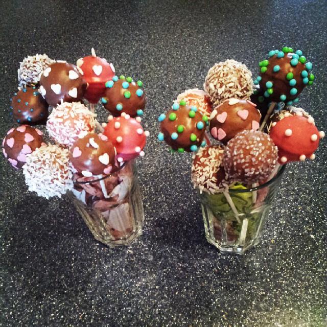Meine ersten #cakepops ♥