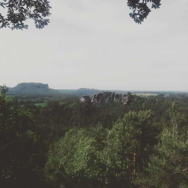 Fantastische Aussicht auf die Festung Knigsstein