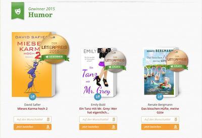 Lovelybooks Leserpreis 2015