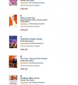 Amazon Ranking Kindle-Liebesromane