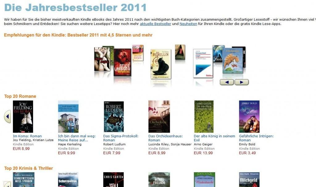 Amazons Jahresbestseller 2011