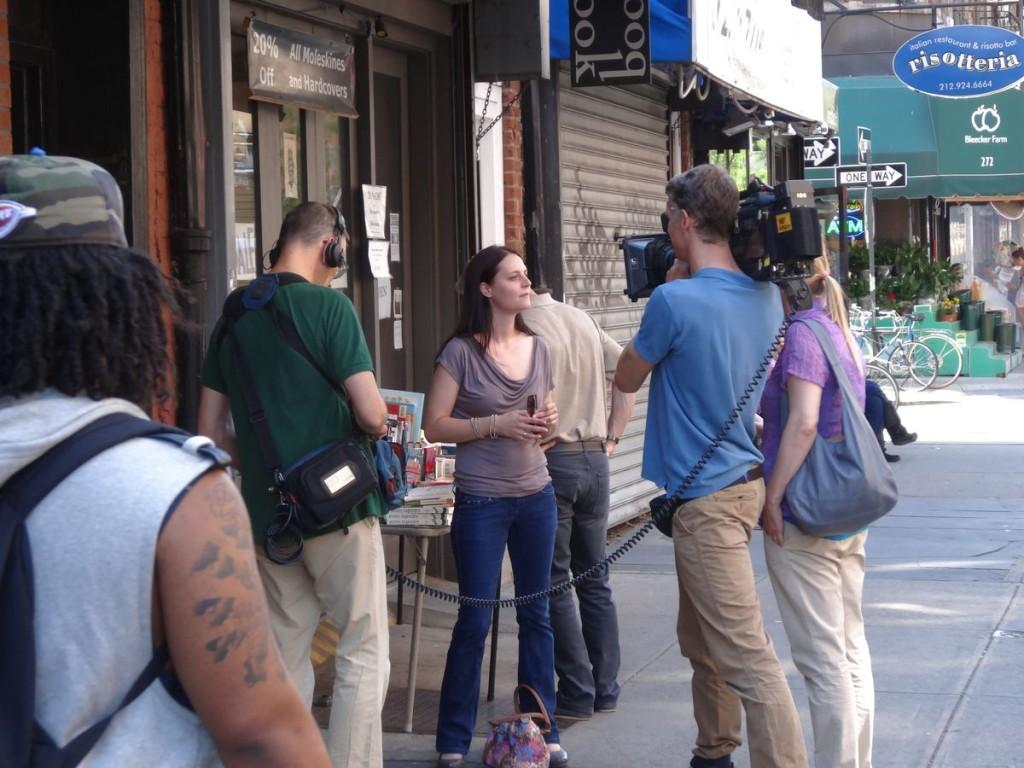 Mit ARTE in New York bei Dreharbeiten