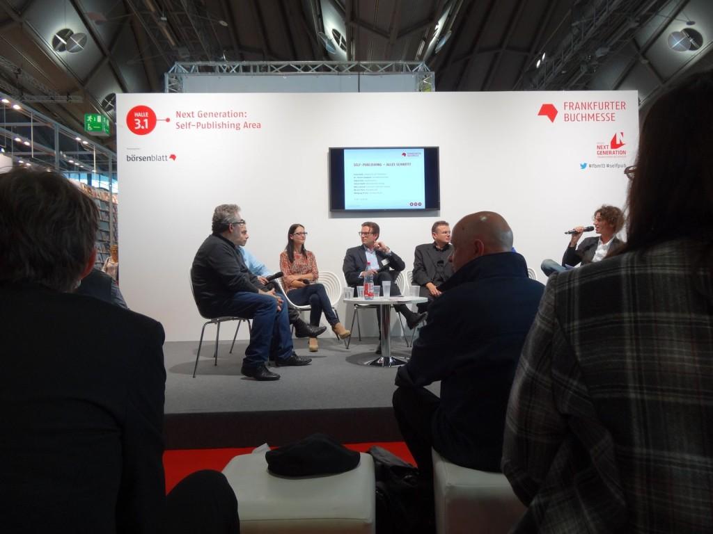 Podiumsdiskussion auf der Buchmesse Frankfurt